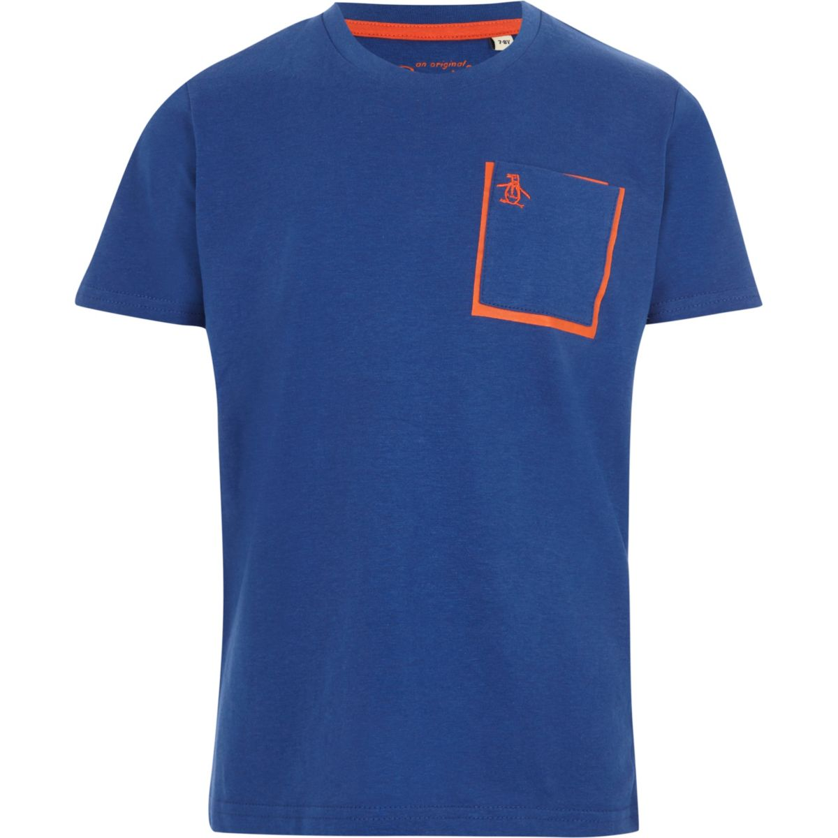 Boys blue Penguin chest pocket T-shirt