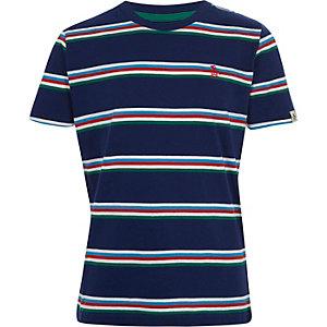 Penguin – T-shirt rayé bleu marine pour garçon