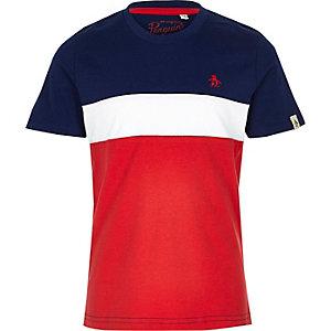 Penguin - Rood T-shirt met textuur voor jongens