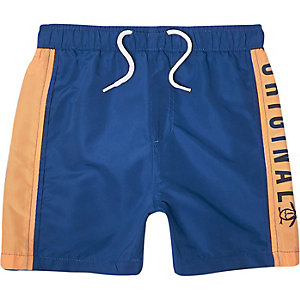 Boys blue Penguin Original swim shorts