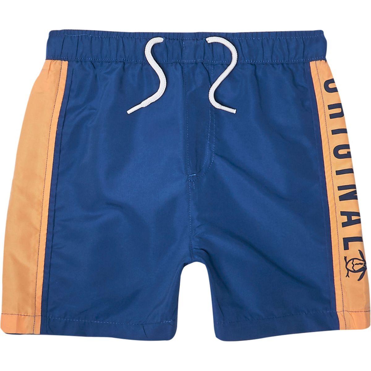 Boys blue Penguin Original swim shorts