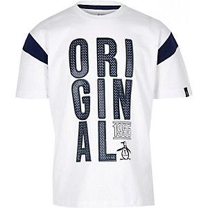 T-shirt pingouin blanc oversize pour garçon
