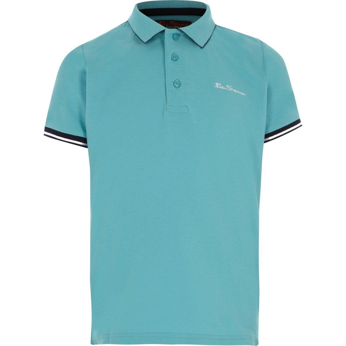 Boys blue Ben Sherman collar polo shirt