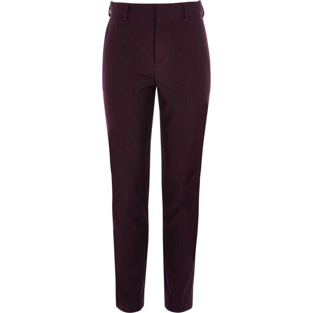 Pantalon de costume violet pour garçon