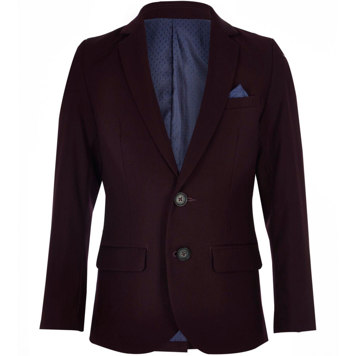 Boys purple suit blazer