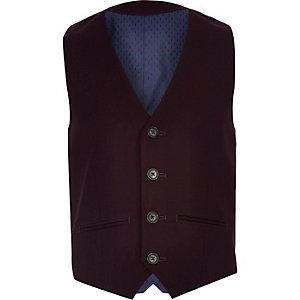 Boys purple suit vest