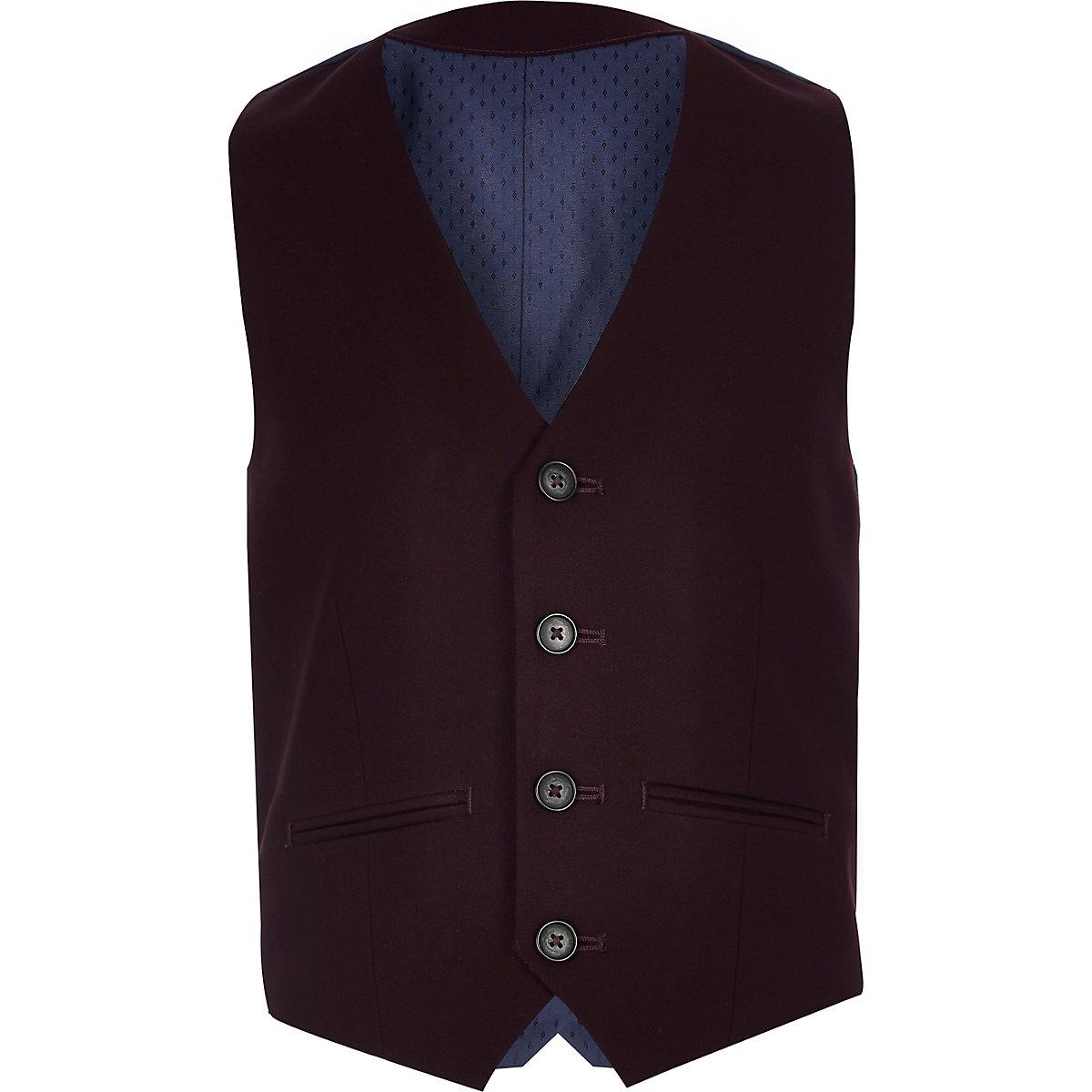 Gilet de costume violet pour garçon