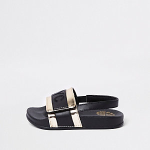 Mini kids black 'NYC' slider