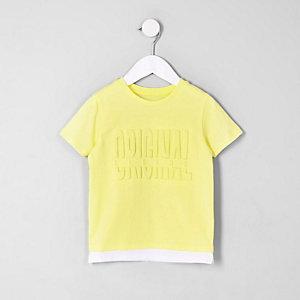 Mini boys yellow 'Original legend' T-shirt