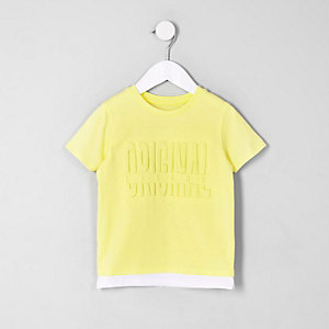 T-shirt « Original legend » jaune pour mini garçon