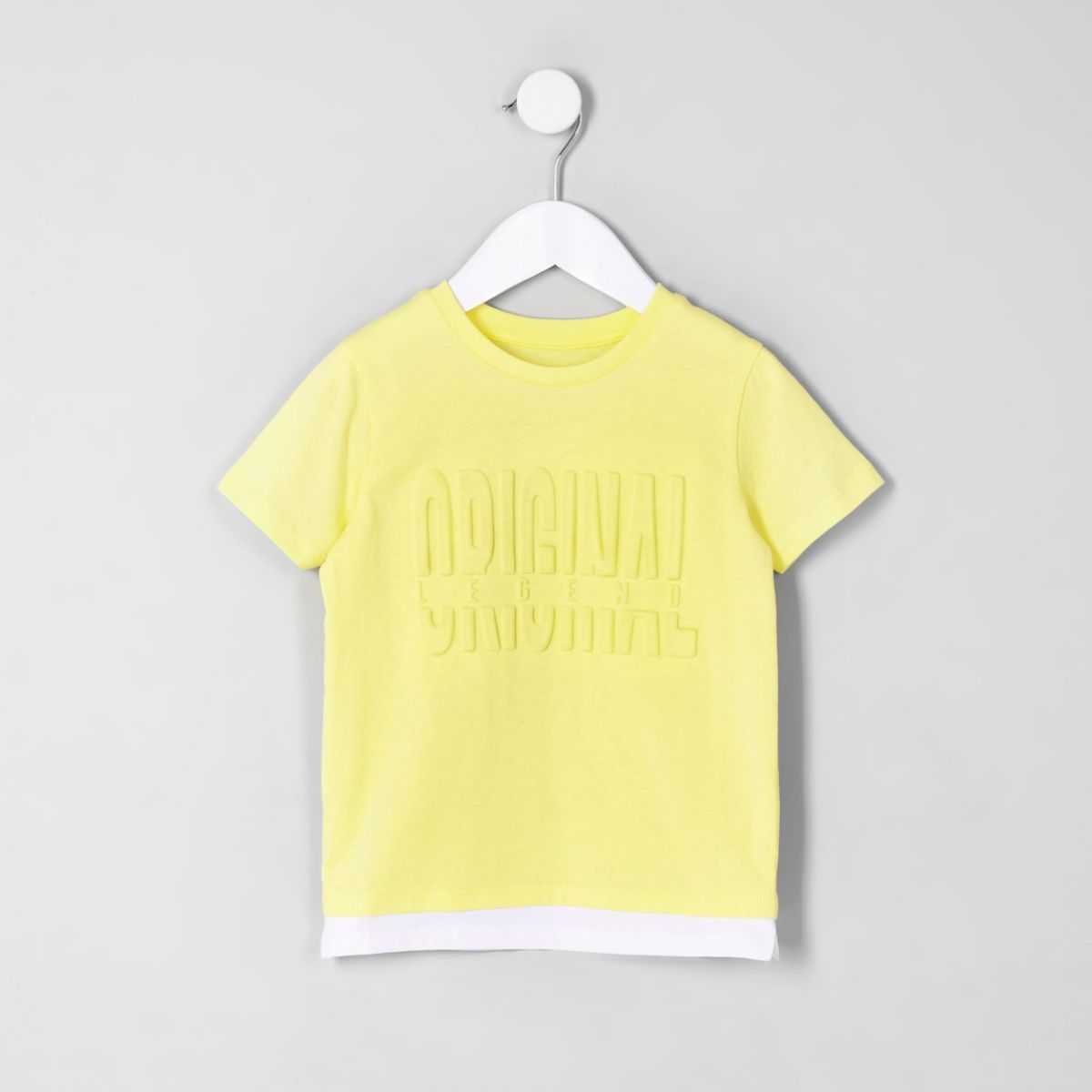 Mini boys yellow 'Original legend' T-shirt