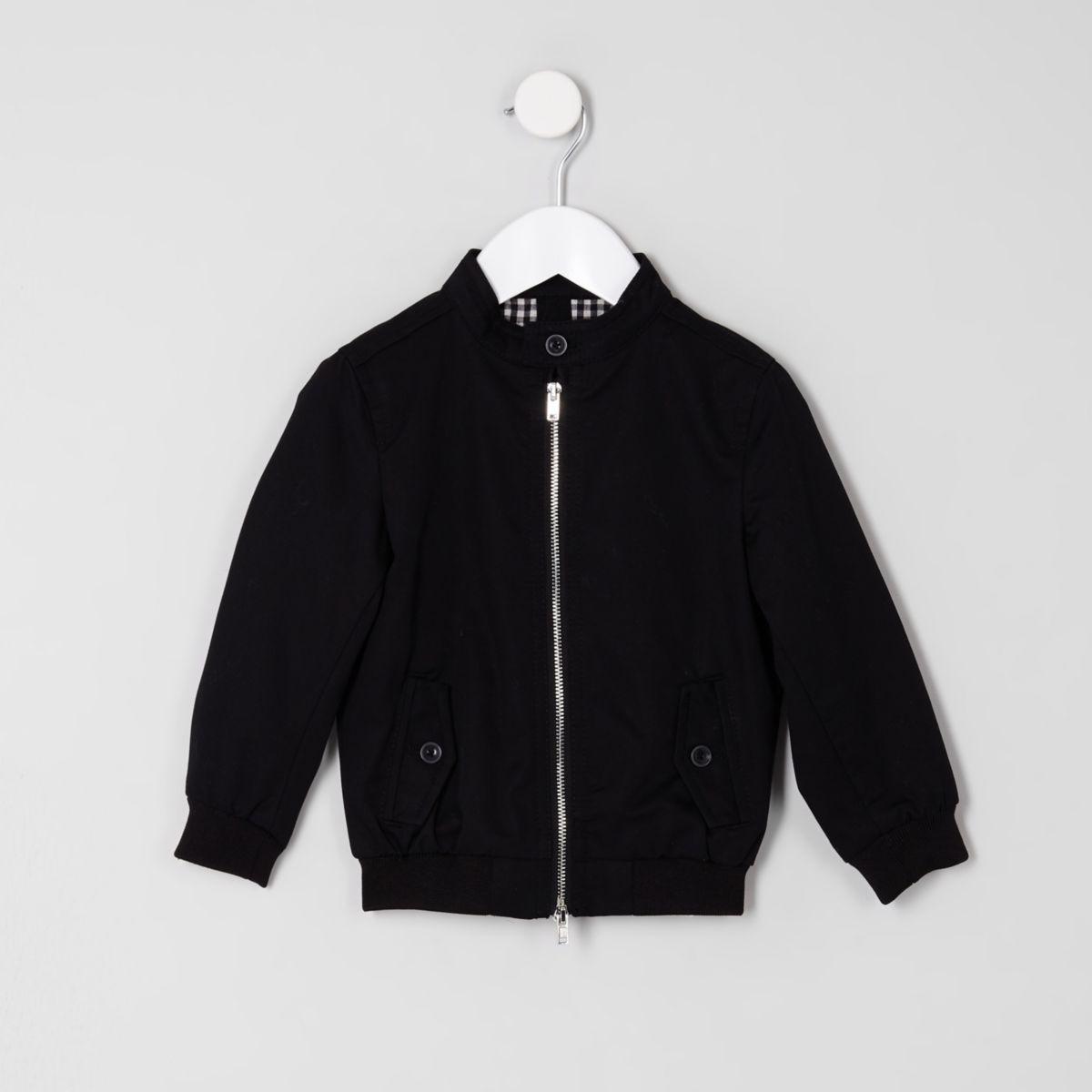 Mini boys black harrington jacket