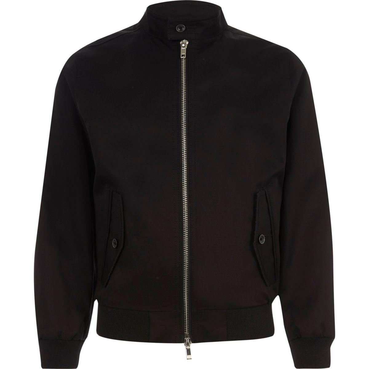 Boys black harrington jacket