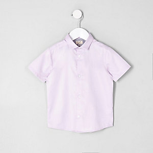 Chemise rose manches courtes mini garçon