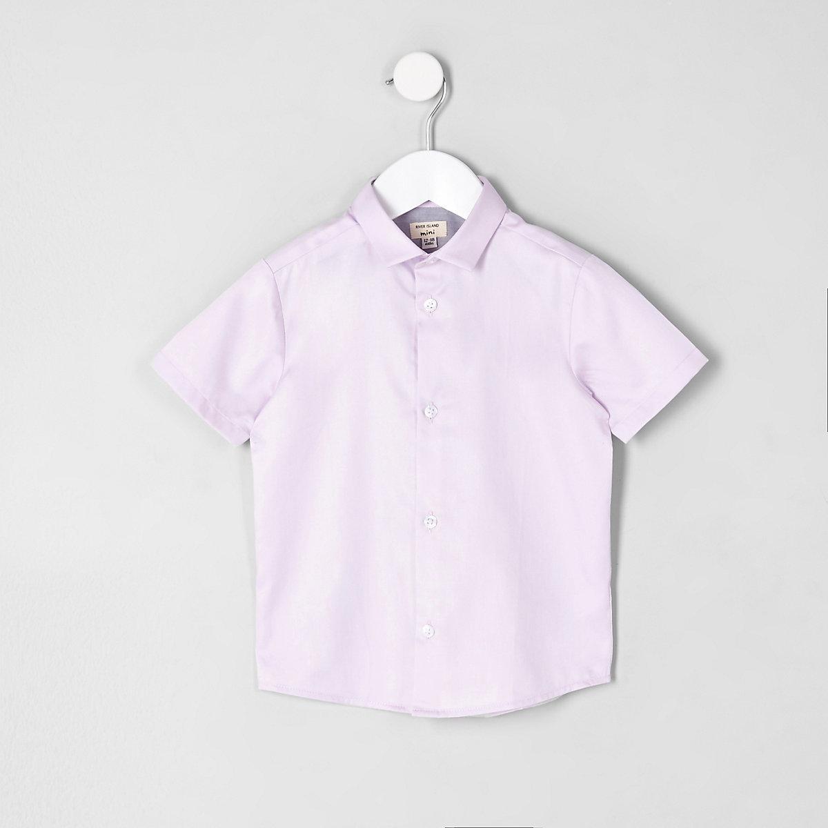 Mini boys pink short sleeve shirt