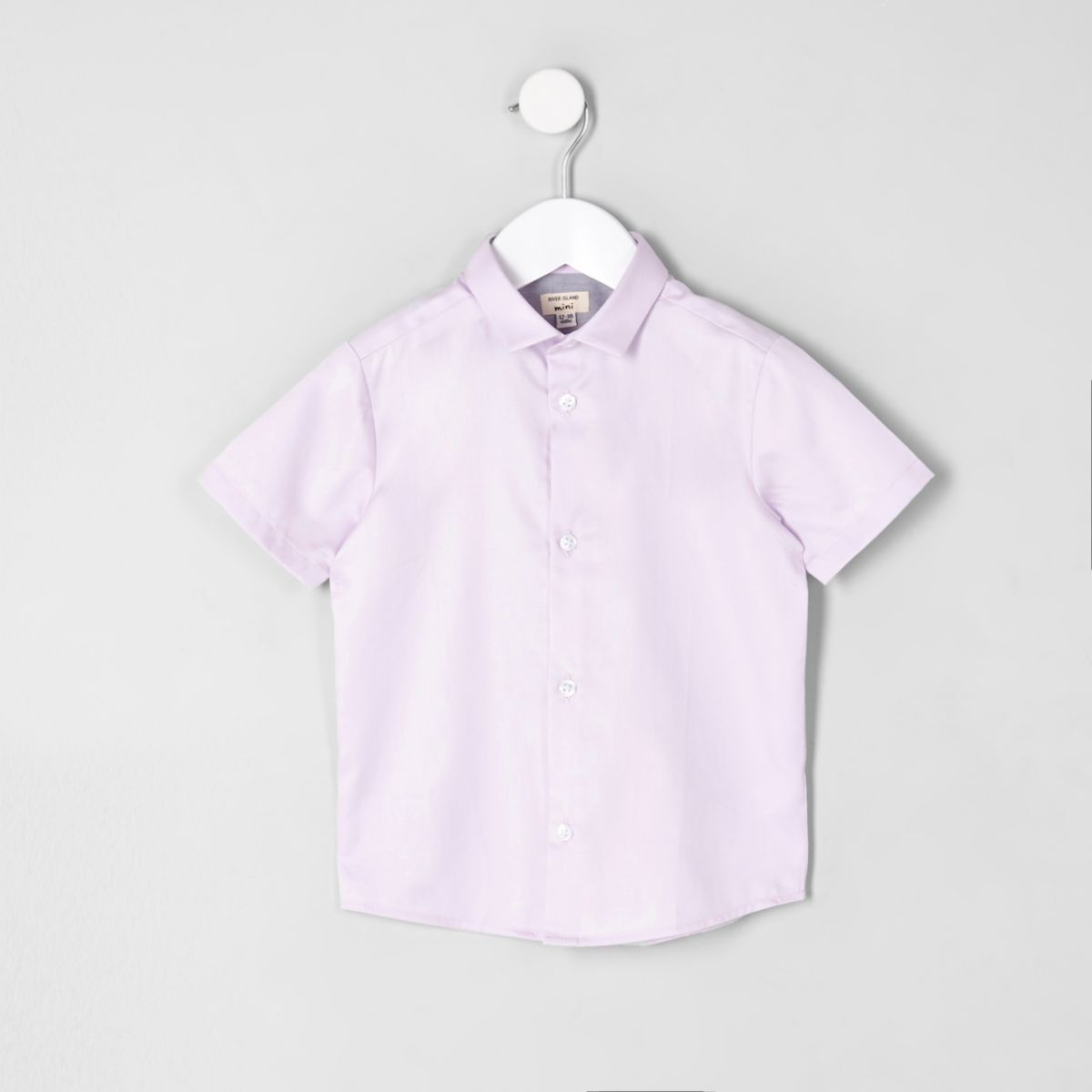 Mini boys pink short sleeve shirt