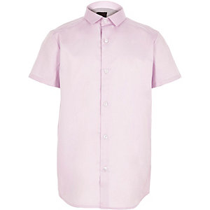 Boys purple short sleeve shirt