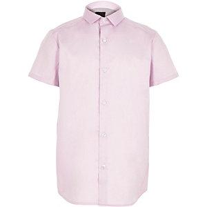 Chemise violette à manches courtes pour garçon