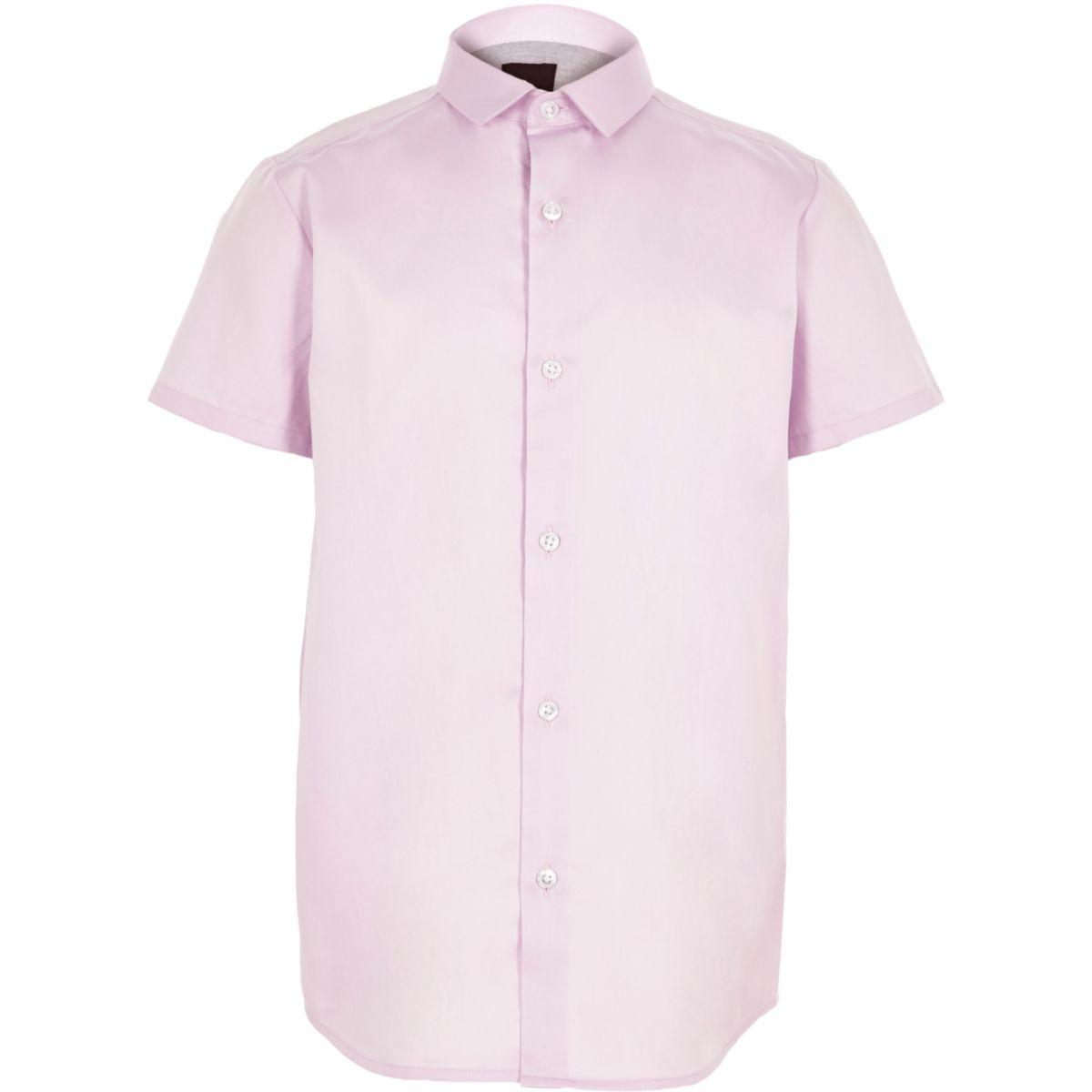 Boys purple short sleeve shirt