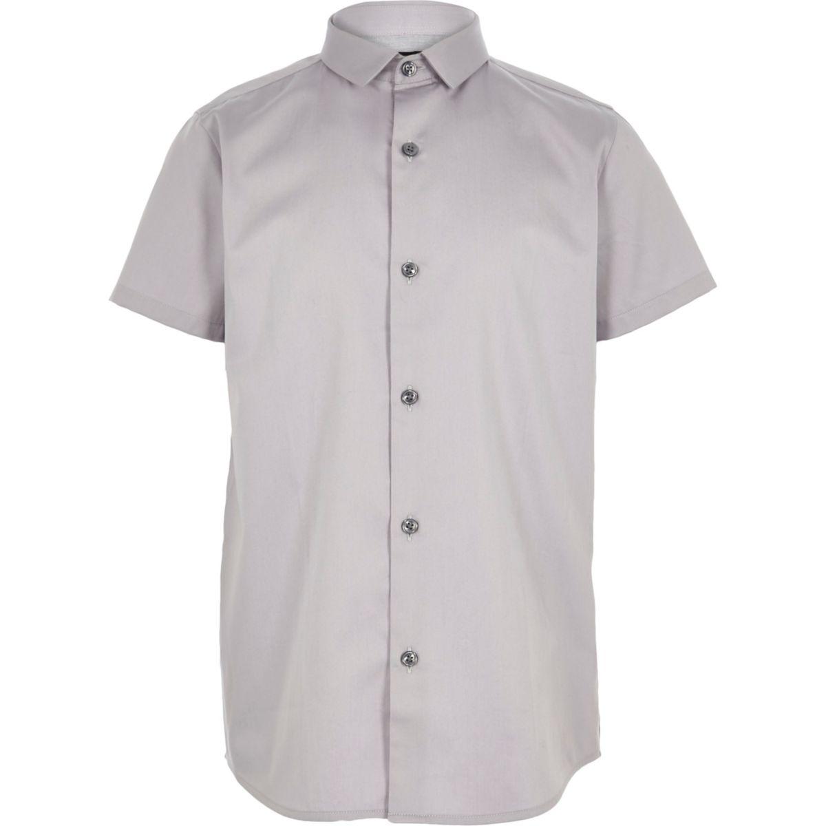 Boys grey short sleeve shirt