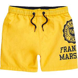 Franklin & Marshall – Short de bain jaune pour garçon
