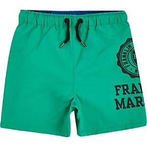 Boys green Franklin & Marshall swim trunks