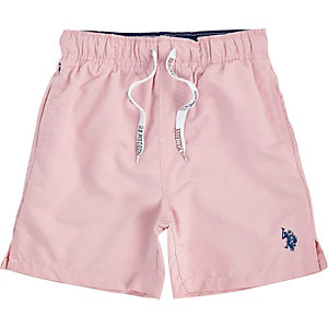 Boys pink U.S. Polo Assn. swim trunks