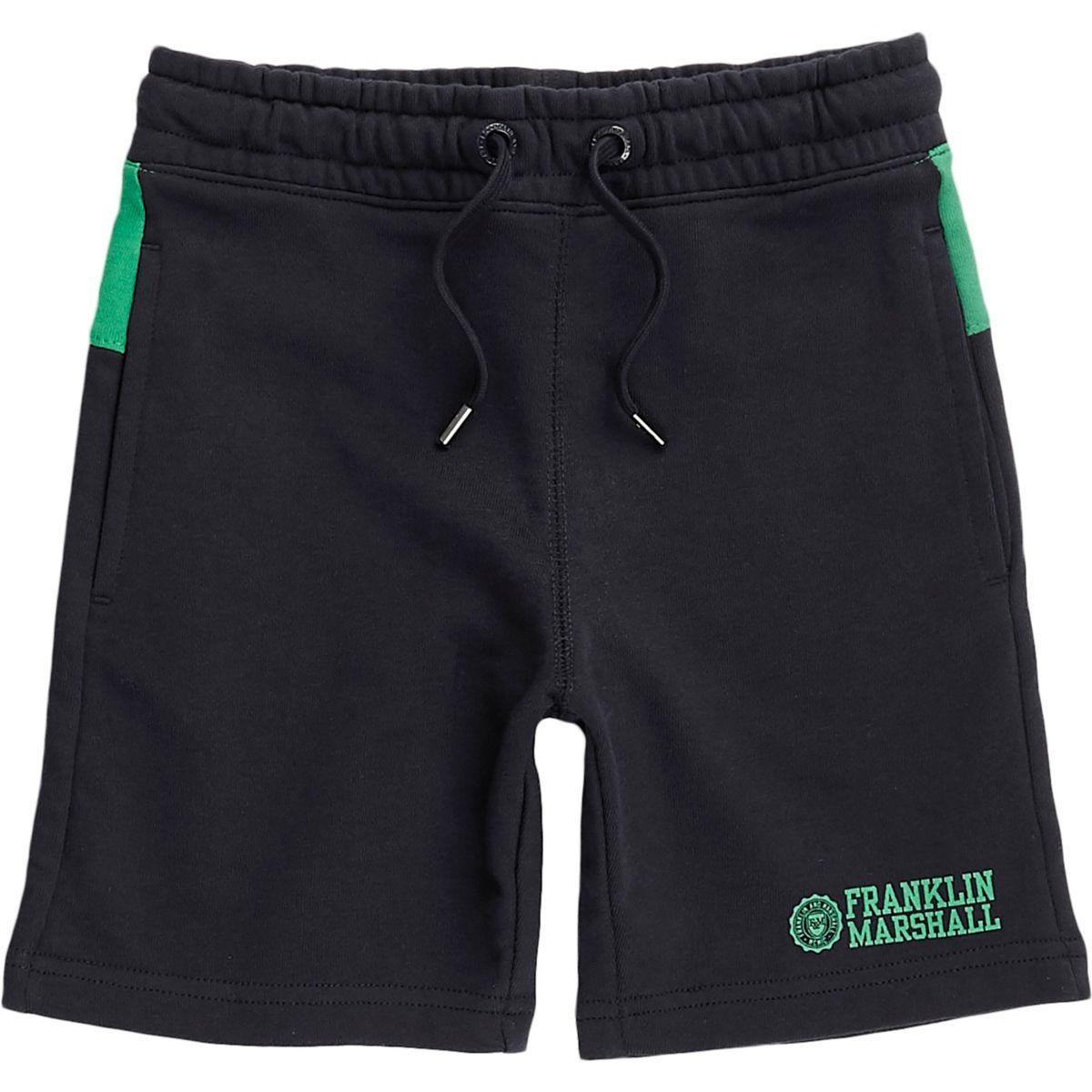 Boys navy Franklin & Marshall jersey shorts
