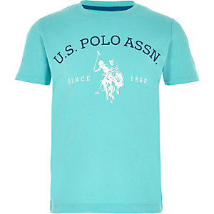 Boys blue U.S. Polo Assn. print T-shirt