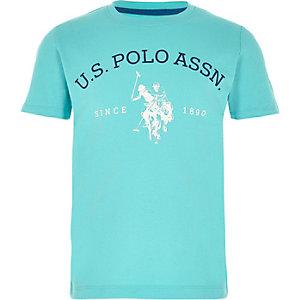 Blauw T-shirt met U.S. Polo Assn.-print voor jongens