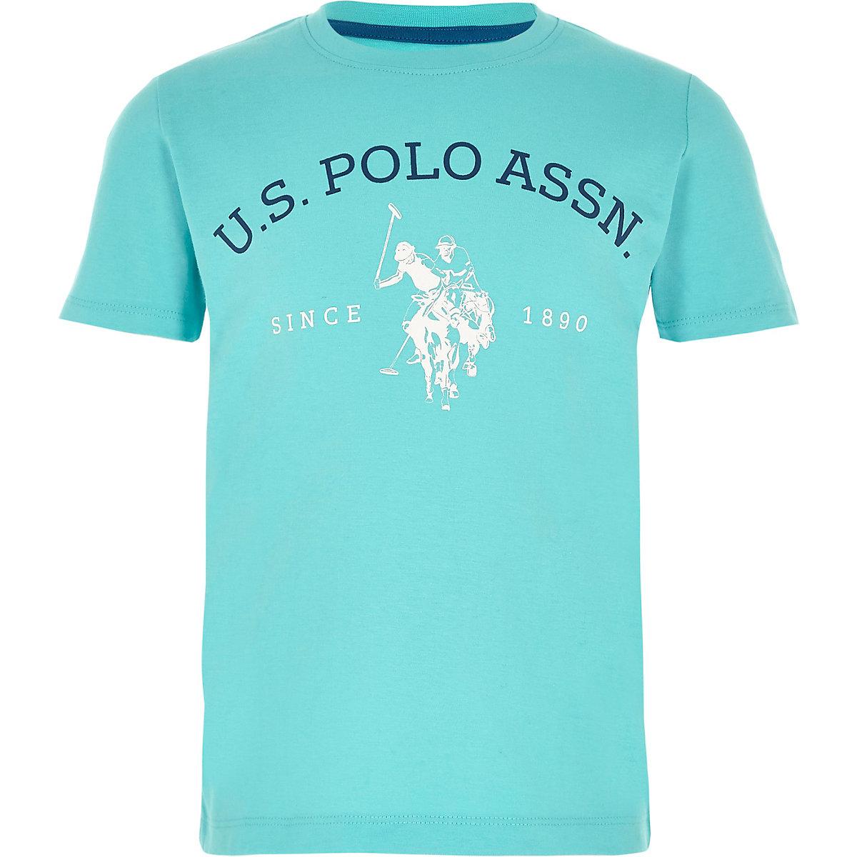 U.S. Polo Assn. – T-shirt imprimé bleu pour garçon