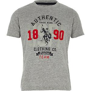 Grijs T-shirt met U.S. Polo Assn.-print voor jongens