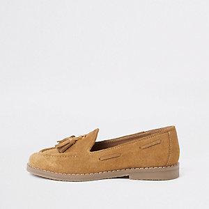 Hellbrauner Loafer mit Quaste