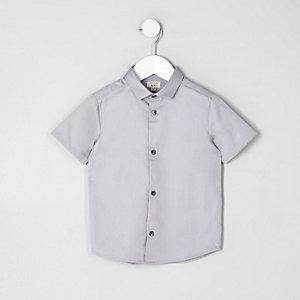 Mini - Grijs overhemd met korte mouwen voor jongens