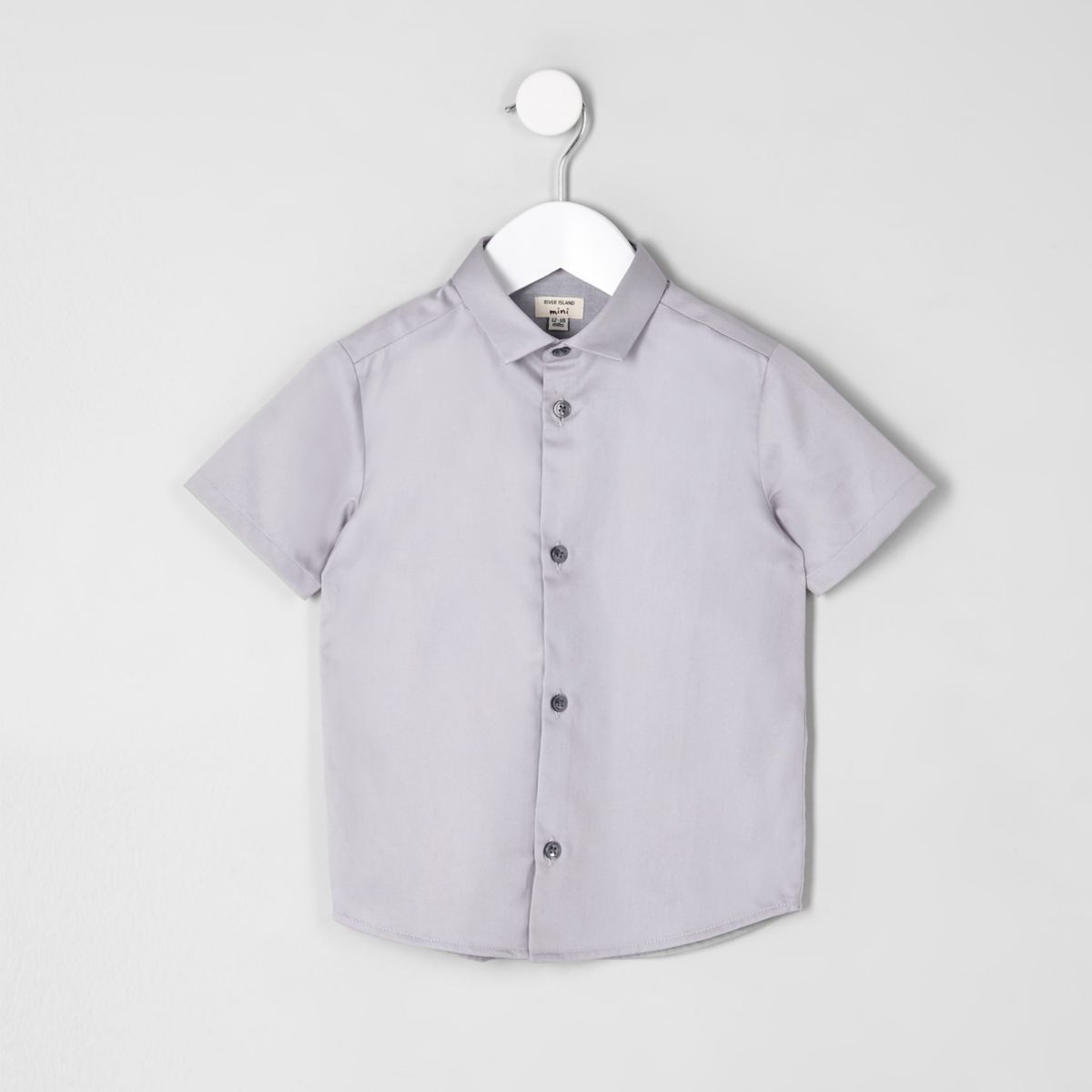 Mini boys grey short sleeve shirt