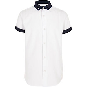 Boys white short sleeve smart shirt