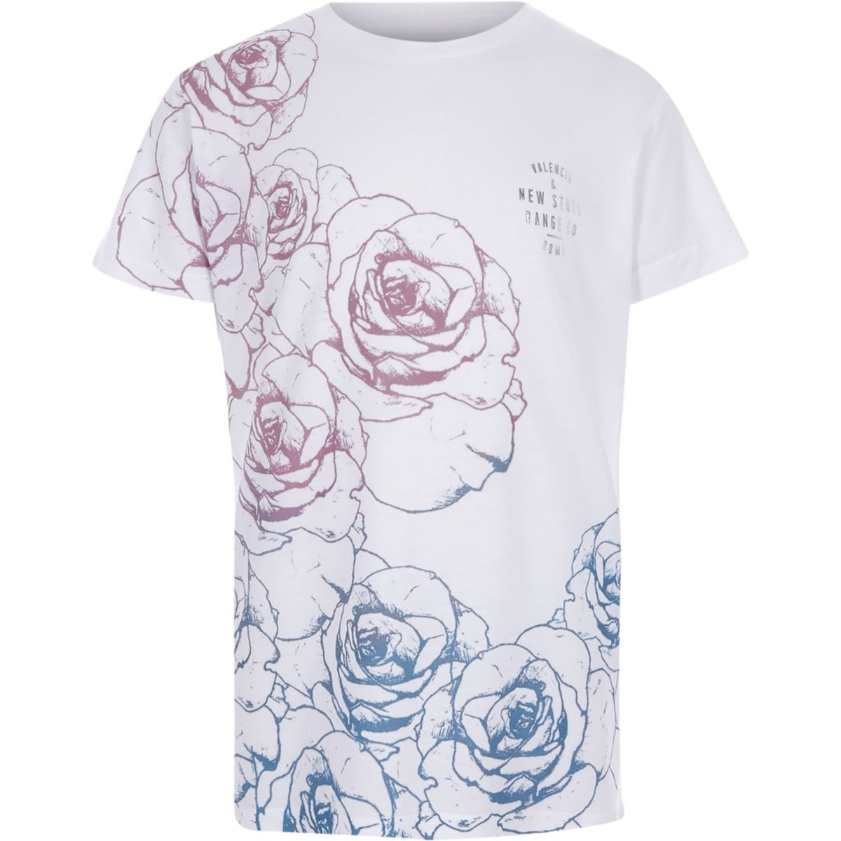 Boys pink and blue floral T-shirt