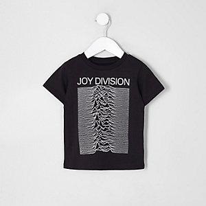 Mini boys black 'joy division' T-shirt