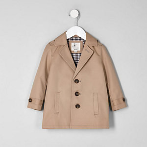 Mini boys brown lined lightweight jacket