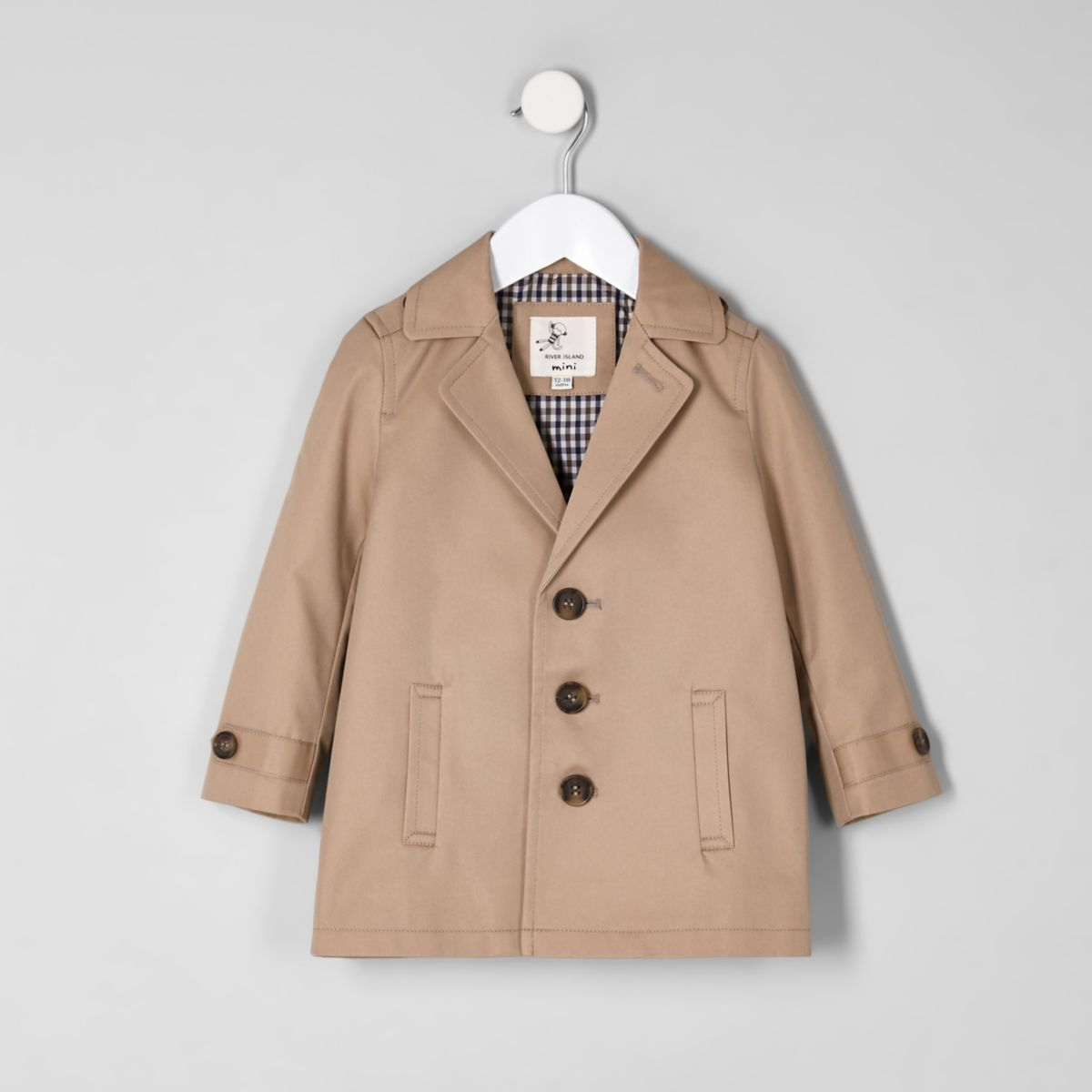 Mini boys brown lined leightweight jacket