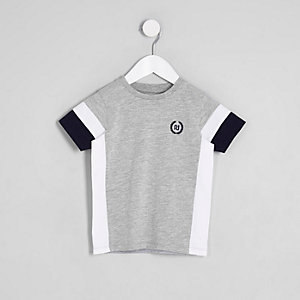 T-shirt RI colour block gris mini garçon