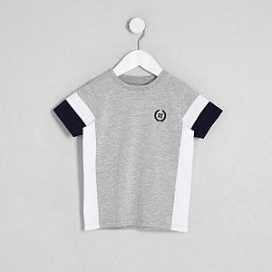 Mini - Grijs RI T-shirt met kleurvlakken voor jongens