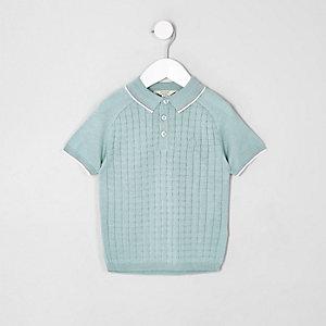 Hellgrünes Polohemd