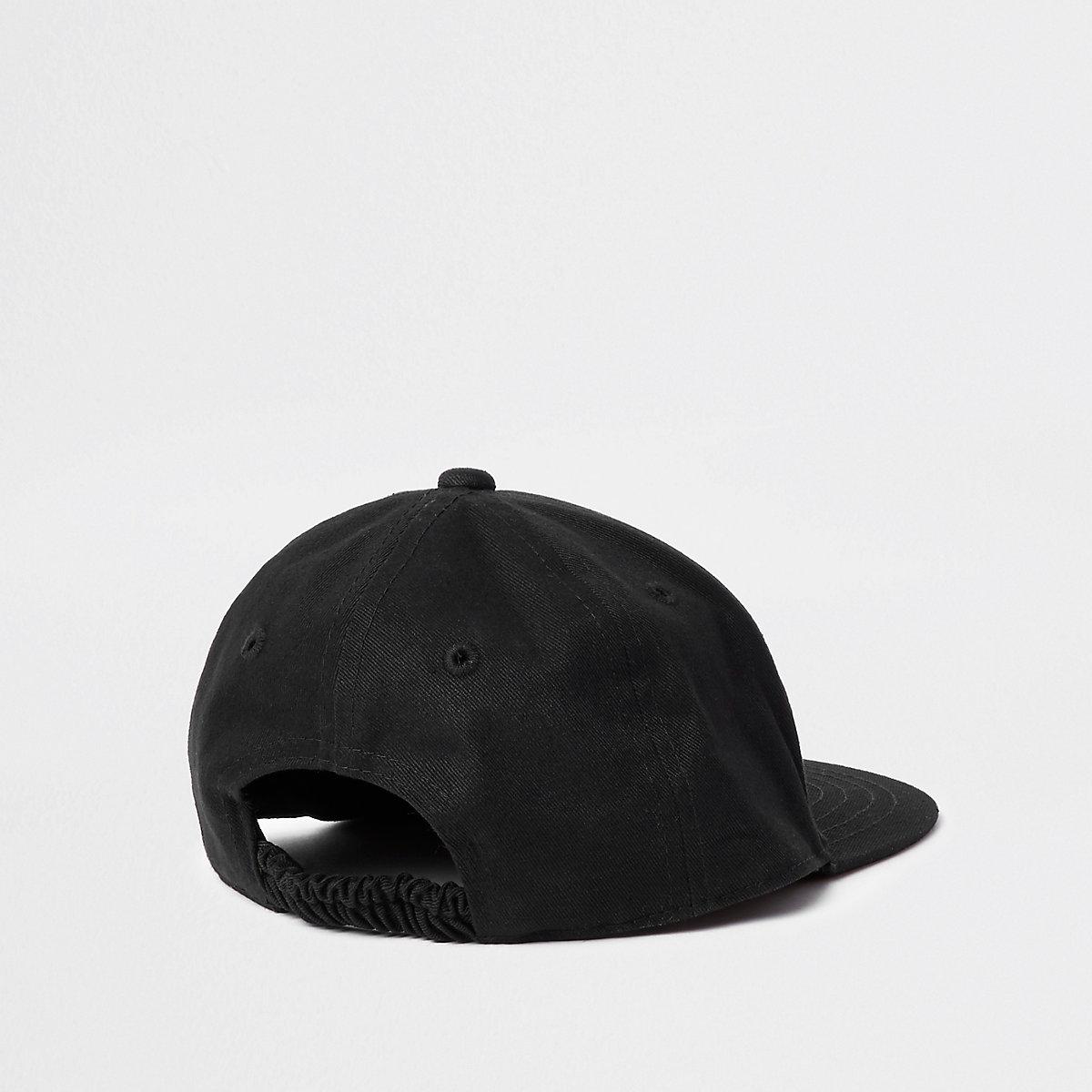 Mini boys black  NYC  sunset flat cap - Baby Boys Accessories - Mini ... f16a97a2375