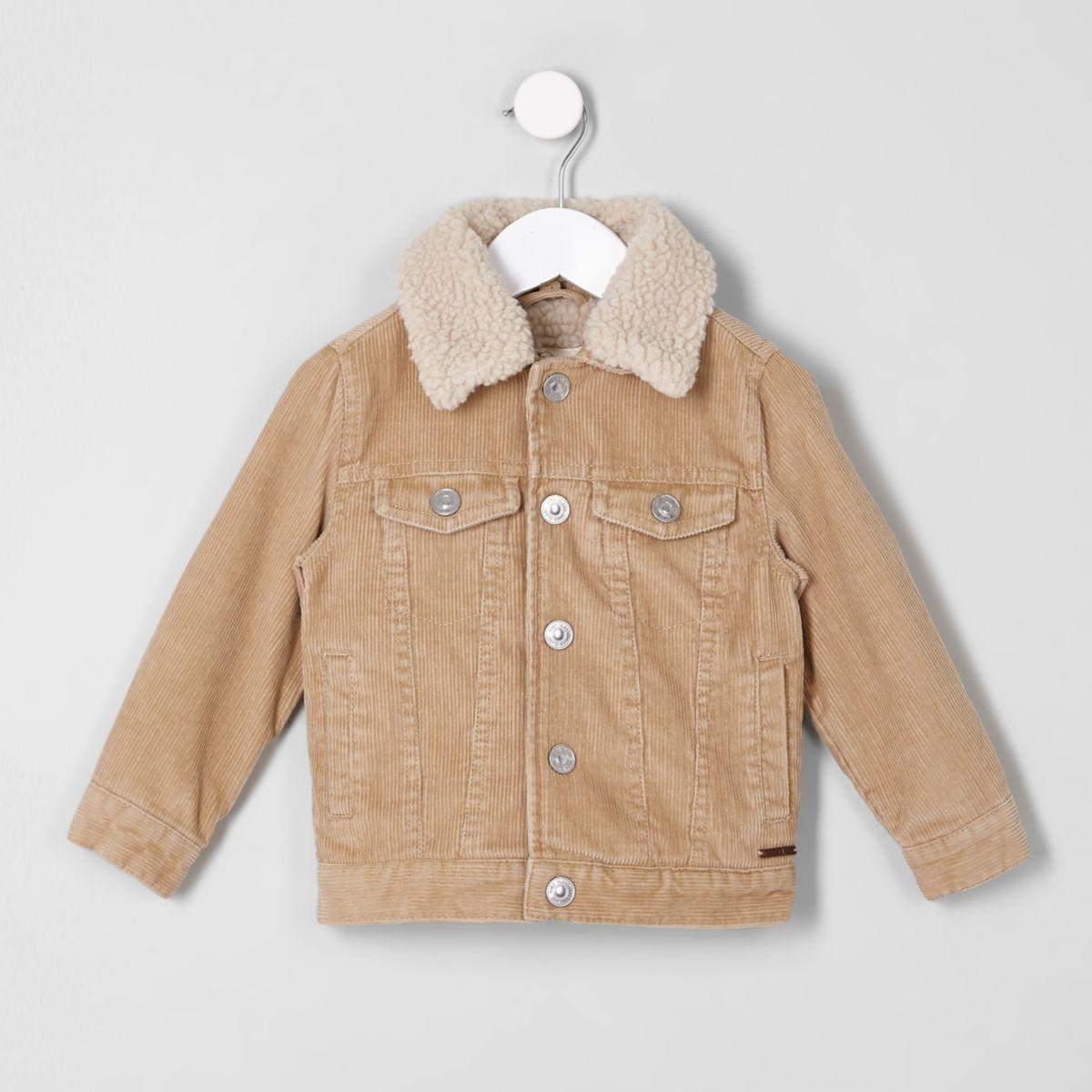Mini boys light brown cord trucker jacket