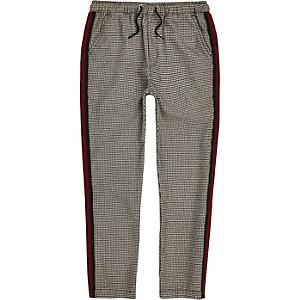 Boys check tape pants