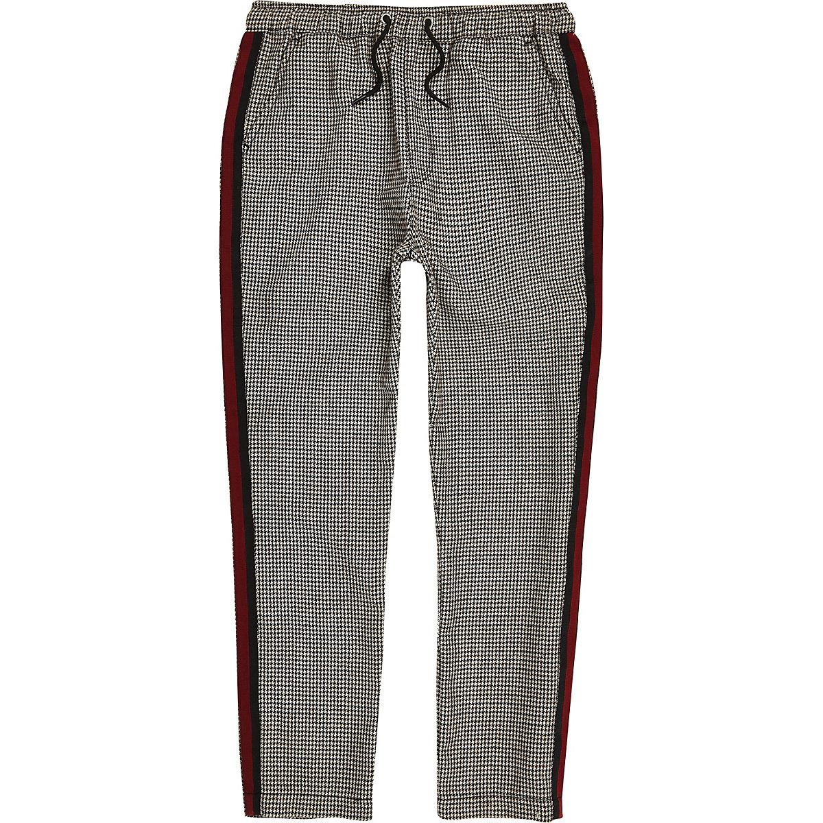 Pantalon à carreaux avec bande latérale garçon