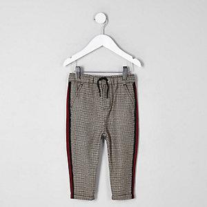 Pantalon à carreaux avec bande latérale mini garçon