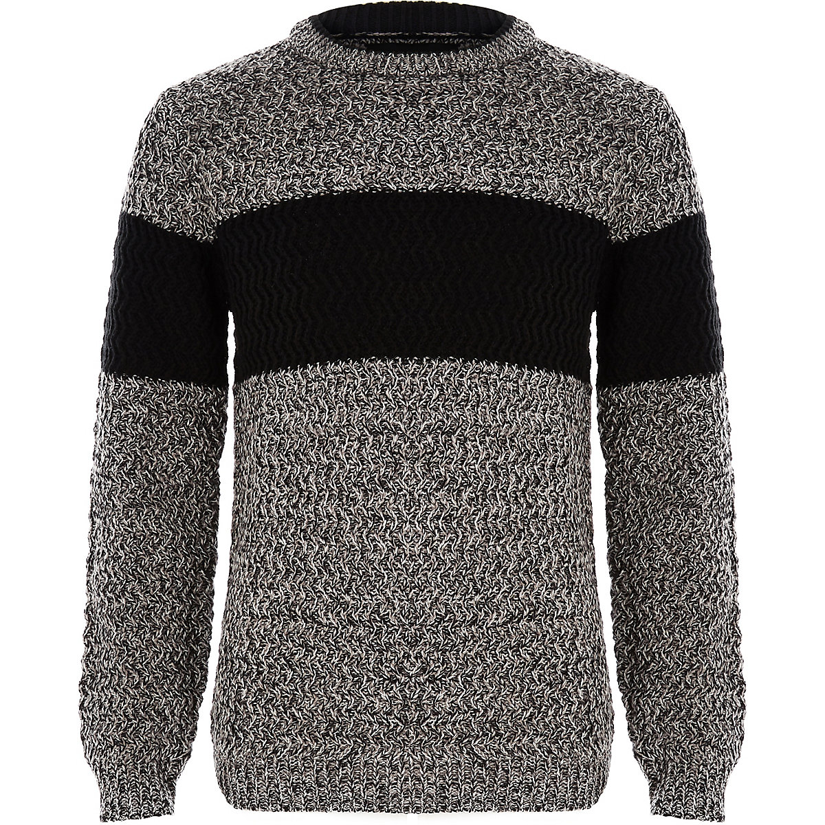 Boys grey block color sweater