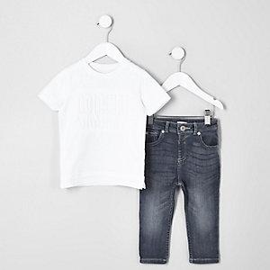Mini - Outfit met T-shirt met 'Original legend'-print voor jongens